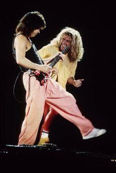 Eddie Van Halen ❤️ Sammy Hagar 1988