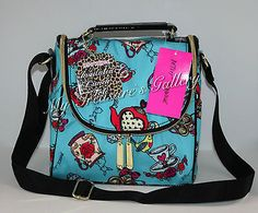 NWT Betsey Johnson Tea Time Top Handle Lunch Tote Handbag Purse Bag