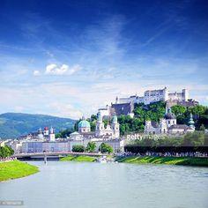 06-03 Panoramic view of Salzburg, Austria. Composite photo... #salzburg: 06-03 Panoramic view of Salzburg, Austria. Composite… #salzburg