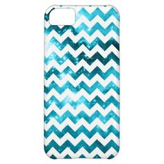 Aqua Stars Zigzag Pattern Case-Mate Barely There iPhone 5C Case