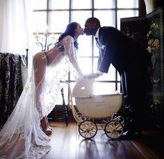 Couples maternity photoshoot!! >> I just kinda like the little buggy :)