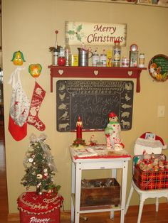 My kitchen. Love a vintage Christmas!