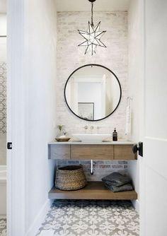 80 Modern Farmhouse Bathroom Makeover Decor Ideas