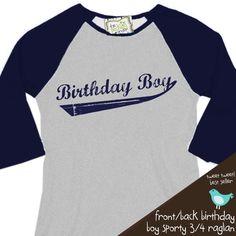 Birthday Boy shirt - perfect for the baseball, sports themed birthday party baseball raglan shirt Birthday Boy Shirts, Boy Birthday, Birthday Ideas, Sports Themed Birthday Party, Sports Party, Raglan Shirts, Boys Shirts, Little Man Birthday, Baseball Party