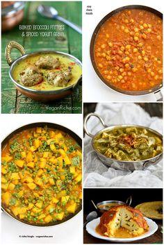 Popular Indian Curries and Entrees like Whote roasted cauliflower, Bombay Potatoes, Kadhi, Pasanda Sauce, Palak tofu and more |…