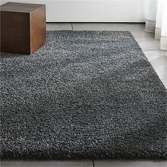 Memphis Steel Grey Shag Rug - Crate and Barrel White Shag Rug, White Rug, Contemporary Area Rugs, Modern Rugs, Girls Rugs, Family Room Furniture, 4x6 Rugs, Large Rugs, Kit Homes