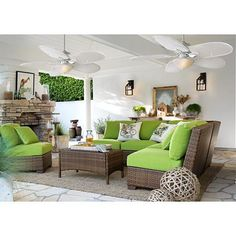Spice up your outdoor area with this tropical outdoor ceiling fan from Casa Vieja® ceiling fans.