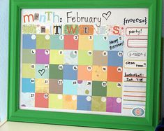 Picture Frame Calendar
