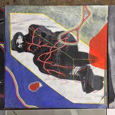 Renz, Board, Painting, Instagram, Painting Art, Paintings, Painted Canvas, Planks, Drawings