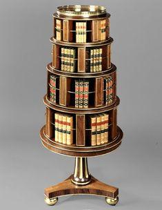 *A Rare Regency Rosewood and Parcel-Gilt Revolving Bookstand. Circa 1820