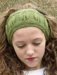 Earwarmer Headband Knitting Patterns : Knitting Pattern for Leaf Motif Headband. : Earwarmer Headband Knitting Patterns : Knitting Pattern for Leaf Motif Headband Knitting For Charity, Knitting Blogs, Free Knitting, Knitting Projects, Knit Headband Pattern, Knitted Headband, Knitted Hats, Daisy Headband, Headband Men
