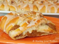 The Life & Loves of Grumpy's Honeybunch: Pumpkin Danish Braid with Maple Drizzle and Walnut Topping (6 WW Points Plus)