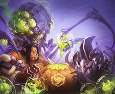 """""""And what, Abathur, must we give in return?"""" Just for fun Heros of the Storm-Halloween 2014 War Craft, Heroes Of The Storm, Halloween 2014, Kawaii Art, World Of Warcraft, Warhammer 40k, Overwatch, Illustration, Character Design"""