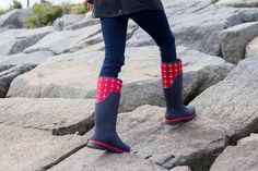 Red & navy Muck Boots + FREE shipping and lots more styles