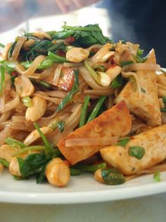 Loved this vegan pad thai, reminds me of the Cornerstone's version. Note: this makes TONS, I would definitely half the recipe, or quarter it if just cooking for one + leftovers. I found it a little heavy on the tofu and light on the vegetables, so I would half the tofu and add some bell peppers, brocolli, etc.
