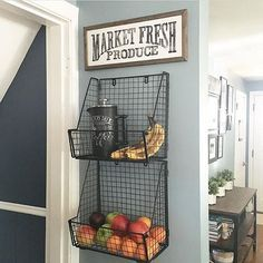 Isn't this such a cute way to display your produce?