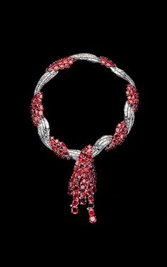 The Duchess of Windsor ruby and diamond necklace made in 1949 by Van Cleef & Arpel.