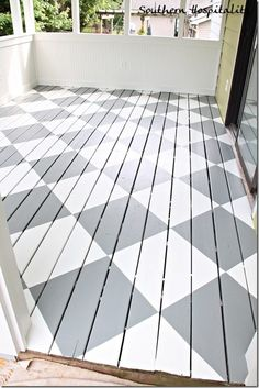 painted floors How to Paint Diamonds on the Floor - flooring