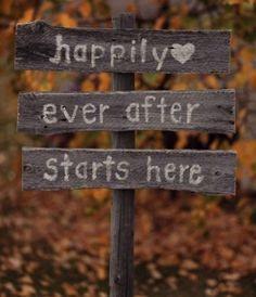 Fall Wedding Signage