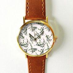 Eucalyptus Watch, Women Watches, Leather Watch, Men's Watch Boyfriend Watch…