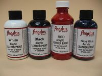 Angelus Acrylic Leather Paint /Dye - Leather & Vinyl - 4 Fl Oz