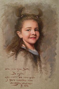"My daughter Berta  ""oil on canvas"" 40 x 60 cm.  www.ortegaavila.com"