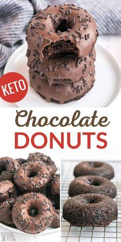 Keto Donuts, Healthy Donuts, Donuts Donuts, Healthy Food, Easy Donut Recipe, Baked Donut Recipes, Low Carb Desserts, Low Carb Recipes, Soup Recipes