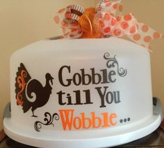 Personalized Cake Carrier - Thanksgiving Cake Carrier - TDY Designs