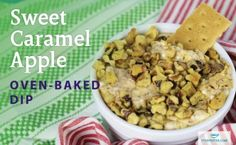 Steeped Tea Sweet Caramel Apple Oven-Baked Dip www. Baked Dip Recipes, Cheese Ball Recipes, Avocado Recipes, Tea Recipes, Snack Recipes, Snacks, Apples And Cheese, Recipe Using, Recipe Type