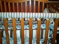 No sew crib teething protector with batting and fabric...need to remember this