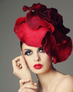 Red hat, hats, millinery