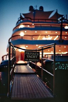 Yup. But a smaller yacht. Just our closest friends and family. For our vow renewal. A dinner cruise:)