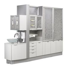A-dec Inspire dental cabinets combine workflow efficiency with beautiful dental office design. Learn more about A-dec Inspire dental furniture. Clinic Interior Design, Design Salon, Clinic Design, Design Offices, Modern Offices, Design Design, House Design, Dental Office Decor, Medical Office Design