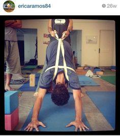 Adho Mukha Svanasana Yoga Shoulder, 8 Limbs Of Yoga, Yoga Iyengar, Different Types Of Yoga, Yoga Anatomy, Yoga Props, Yoga Strap, Chair Yoga, Restorative Yoga