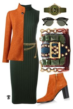 """No title"" by tatjanasega on Polyvore featuring Burberry, Maison Margiela, Chloé, Chanel, Lands' End, Ray-Ban and Michele"
