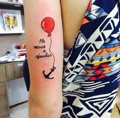 Anchor Tattoos, Ankle Tattoos, Tatoos, Piercing Tattoo, Piercings, Couple Tat, Balloon Tattoo, Tattoo Inspiration, Tatting