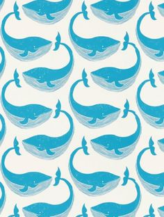 Whale of a Time, a feature wallpaper from Scion, featured in the Guess Who? collection.