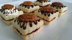 Şık Görünümlü Kurabiye (nişastalı) Cookie Sandwich, Cheesecake, Sweet Cookies, Turkish Recipes, World Recipes, New Flavour, Afternoon Tea, Cookie Recipes, Dinner Recipes