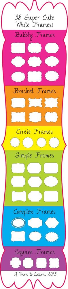 grab these super cute white frames for your TPT products! $