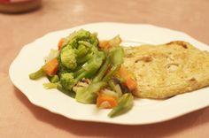 Veggie chicken flavored scallopini
