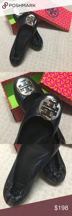 Brand new Tory Burch Reva flats These are brand new Tory Burch classic reva ballet flats. New in box. My husband bought these for me for Christmas but I don't really care for flats. They are gorgeous with gold Tory Burch logo. Tory Burch Shoes Flats & Loafers