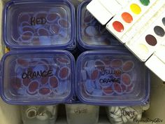 need to do this with all my watercolor refills instead of all those skinny boxes in the drawer