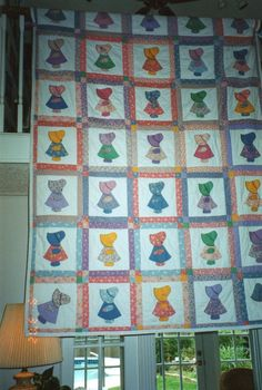 Sunbonnet Sue. I want to do this pattern... but have one Sue be all punked-out with flames and piercings, and be different from the crowd.