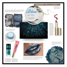 """""""Blue as the night"""" by barbara-lancianese ❤ liked on Polyvore featuring beauty, NARS Cosmetics, Fornasetti, Anastasia Beverly Hills, rms beauty, Urban Decay and Anja"""