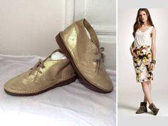 J CREW ITALY COOL METALLIC~BRITISH~MACALISTER BOOTIES BOOTS SHOES $145 7.5 7 1/2 #JCrew #bootiesflatsoxfords