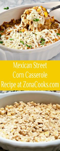 This Mexican Street Corn Casserole has all the delicious flavors of Mexican Street Corn in an easy and quick casserole recipe. The combination of mayonnaise, sour cream, chili powder, cumin, and garlic mixed with corn and Queso Blanco cheese is perfect and whips up in just 30 minutes. This small batch dish makes a great year-round side dish for two. #Mexican #StreetCorn #casserole #SmallBatch #RecipesForTwo #corn #SideDish Side Dish Recipes, Side Dishes, Easy Recipes, Mexican Street Corn, Corn Casserole, Chili Powder, Mexican Dishes, Meals For Two, Mayonnaise