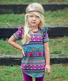 Look what I found on #zulily! Sew Chill Latin Berry Flutter Tunic - Infant, Toddler & Girls by Sew Chill #zulilyfinds