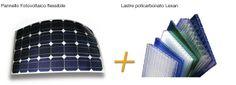 pannello fotovoltaico flessibile + lastre policarbonato lexan