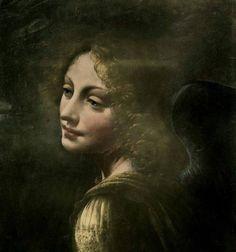 Leonardo Da VINCI | La Vergine delle rocce (dettaglio Angelo), c.1508. Olio su tavola, 120 x 190 cm. Londra, National Gallery  via L'arte di guardare l'Arte FB
