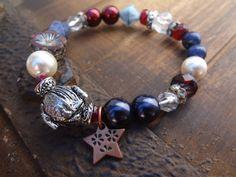 COUPON Texas Armadillo Bracelet 4th of July by FeminineGenius